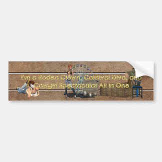 TEE Cowgirl All in One Bumper Sticker