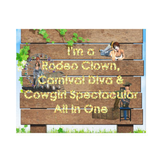 TEE Cowgirl All in One Canvas Print