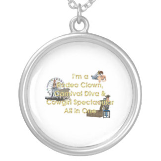 TEE Cowgirl All in One Round Pendant Necklace