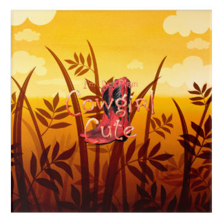 TEE Cowgirl Cute Acrylic Print