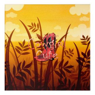 TEE Cowgirl Cute Acrylic Wall Art