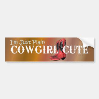 TEE Cowgirl Cute Bumper Sticker
