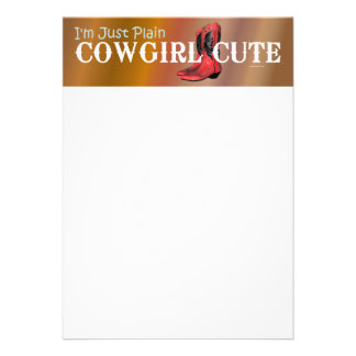 TEE Cowgirl Cute Personalized Announcements