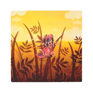 TEE Cowgirl Cute Metal Print