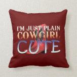 TEE Cowgirl Cute Pillows