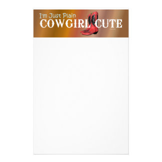 TEE Cowgirl Cute Stationery