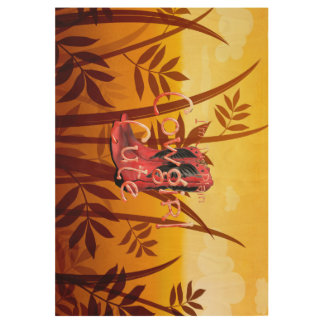 TEE Cowgirl Cute Wood Poster
