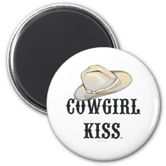 TEE Cowgirl Kiss 2 Inch Round Magnet
