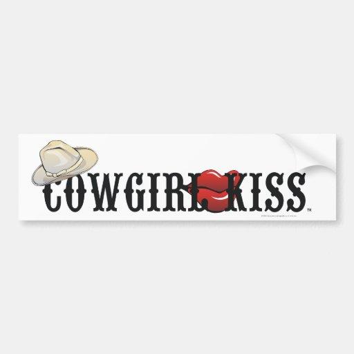 TEE Cowgirl Kiss Car Bumper Sticker