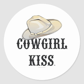 TEE Cowgirl Kiss Classic Round Sticker