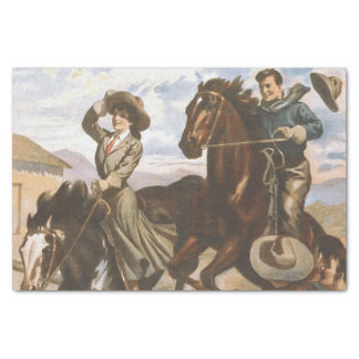 "TEE Cowgirl Old School 10"" X 15"" Tissue Paper"
