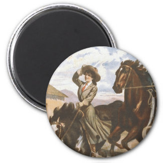 TEE Cowgirl Old School Refrigerator Magnets