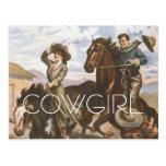 TEE Cowgirl Old School Postcards