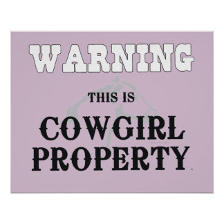 TEE Cowgirl Property Poster