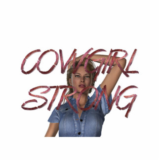 TEE Cowgirl Strong Cutout