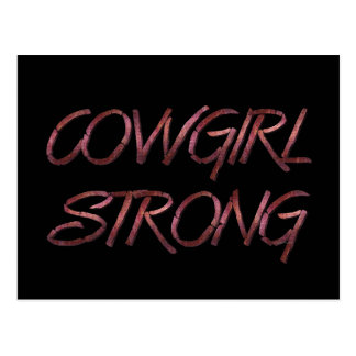 TEE Cowgirl Strong Postcard