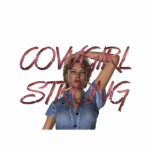 TEE Cowgirl Strong Standing Photo Sculpture