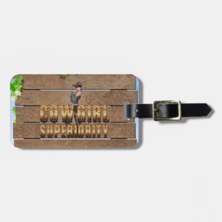 TEE Cowgirl Superiority Luggage Tag
