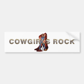 TEE Cowgirls Rock Bumper Sticker