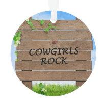 TEE Cowgirls Rock Ornament
