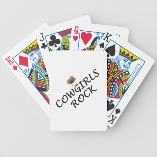 TEE Cowgirls Rock Playing Cards