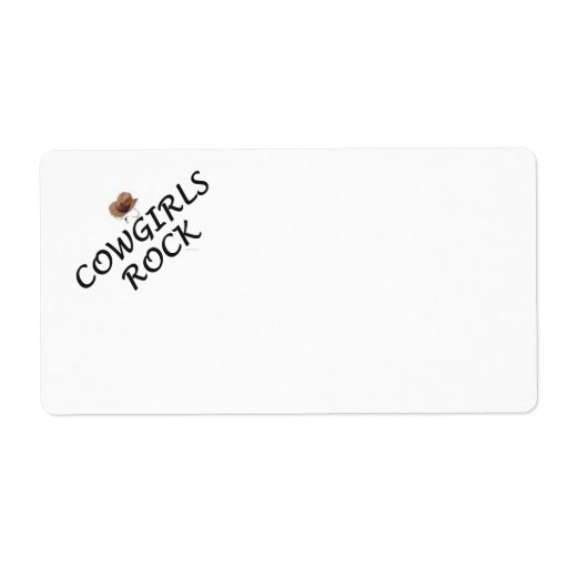 TEE Cowgirls Rock Shipping Labels