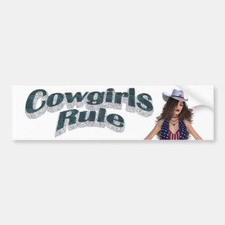 TEE Cowgirls Rule Bumper Sticker