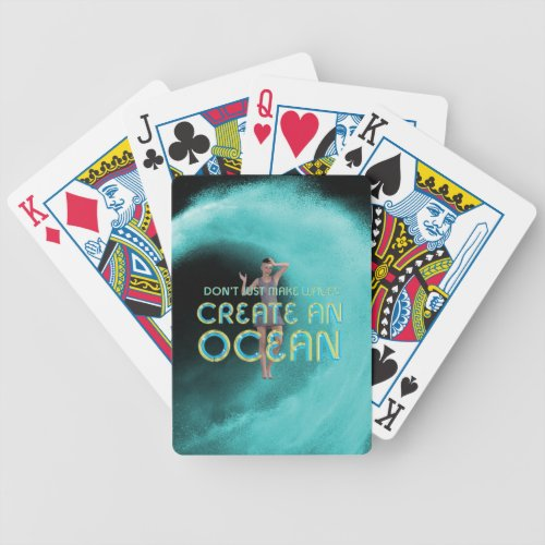 TEE Create an Ocean Bicycle Playing Cards