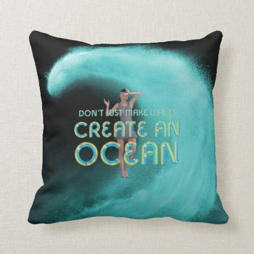 TEE Create an Ocean Throw Pillow