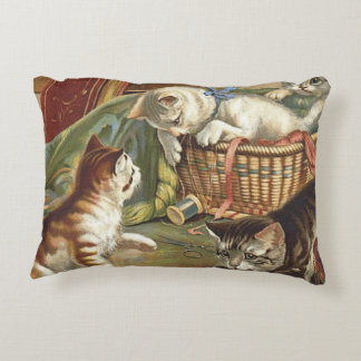 TEE Curious Cat Accent Pillow