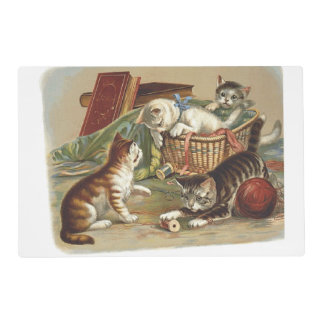 TEE Curious Cat Laminated Placemat