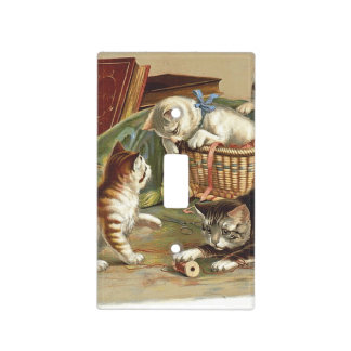 TEE Curious Cat Light Switch Cover