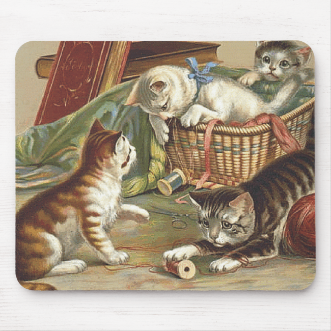 TEE Curious Cat Mouse Pad