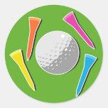 Tee de golf pegatina redonda