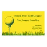 Tee de golf y pelota de golf tarjeta personal