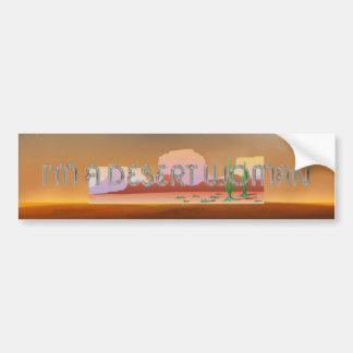 TEE Desert Woman Bumper Sticker