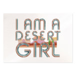 TEE Desert Woman Large Business Cards (Pack Of 100)