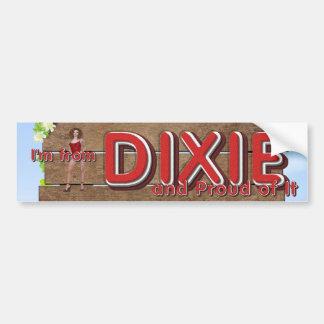 TEE Dixie Girl Car Bumper Sticker