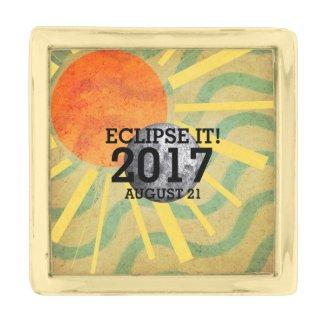 TEE Eclipse It 2017 Gold Finish Lapel Pin