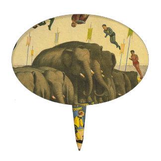 TEE Elephant Acrobats Cake Pick