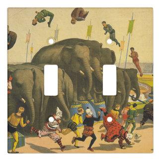 TEE Elephant Acrobats Light Switch Cover