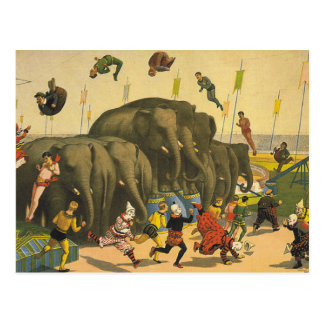 TEE Elephant Acrobats Postcard