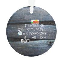 TEE Farm Diva Ornament