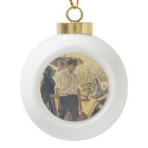 TEE Farm Life Ceramic Ball Christmas Ornament