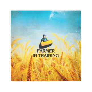 TEE Farmer in Training Metal Print