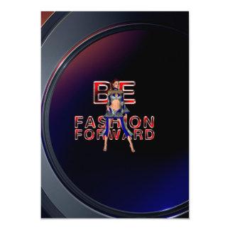 TEE Fashion Forward 5x7 Paper Invitation Card