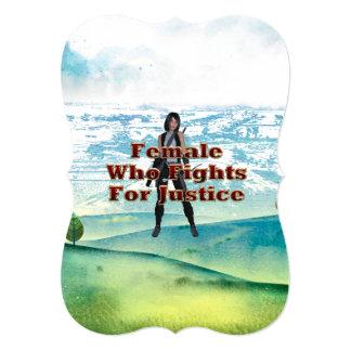 TEE Female Justice 5x7 Paper Invitation Card