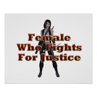 TEE Female Justice Poster