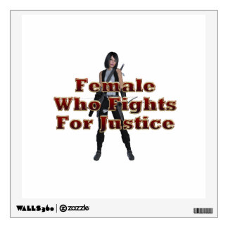 TEE Female Justice Wall Sticker