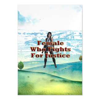 TEE Female Who Fights for Justice Magnetic Invitations